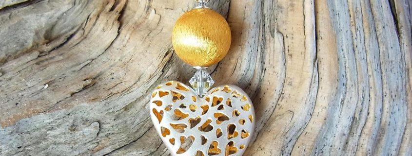 Herz in Silber und Gold