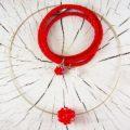 Schmuck Geschenkset Rote Zora Silber Collier mit Sternkugel aus Swarovski Kristallperlen