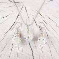 Swarovski Kristallperlen und Silber düe Anhänger und Ohrschmuck