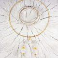 Hochzeitsschmuck Geschenkset Kristall-Gold Collier Ohrschmuck Armband