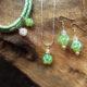 Schmuck Geschenkset für Glück Grün Armband Anhänger Ohrringe Swarovskiperlen
