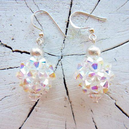 Ohrringe mit Swarovskiperlen und Silber