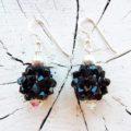 Schwarzer Ohrschmuck aus Swarovskiperlen